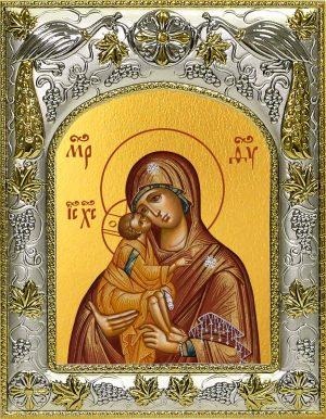 Икона Донская Божья Матерь в окладе