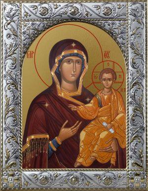 Икона Смоленская Икона Божией матери в окладе