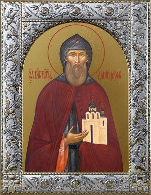 Даниил Московский благоверный князь икона в окладе