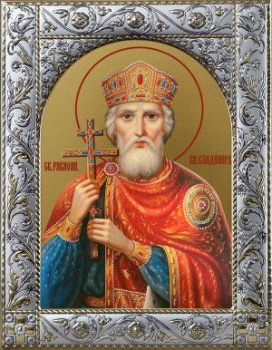 Владимир равноапостольный великий князь икона в окладе