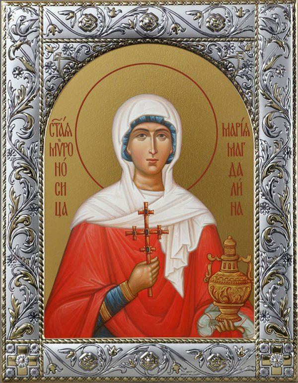 Мария Магдалина равноапостольная, мироносица Икона в окладе