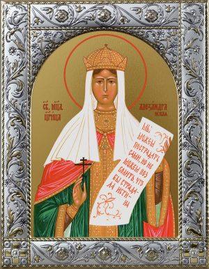 Александра (Романова), императрица, страстотерпица икона в окладе