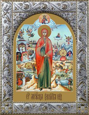 Виктория (Ника) Кордувийская мученица, икона в окладе