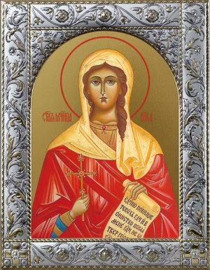 Виктория (Ника) Коринфская мученица икона в окладе