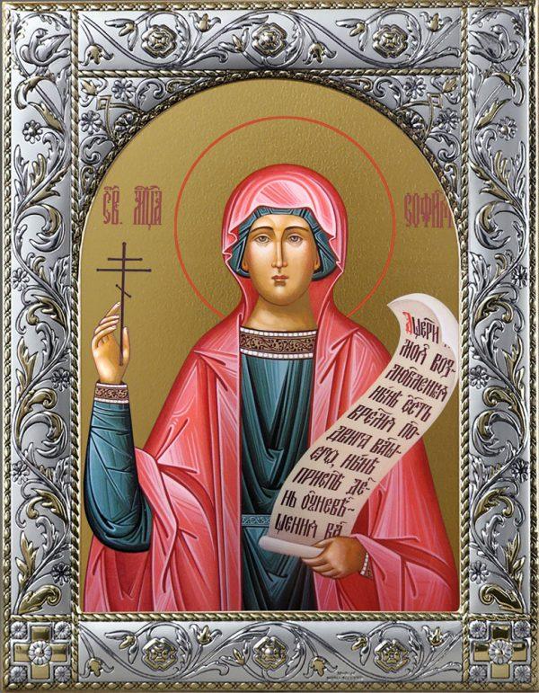 София мученица, икона в окладе