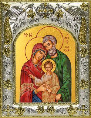 Икона Святое Семейство в окладе