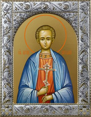 Икона Виталий Александрийский преподобный в окладе