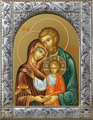 Святое Семейство, икона в окладе