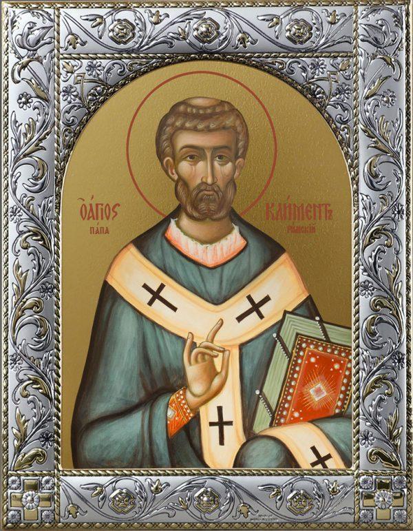 Икона Климент, папа Римский, священномученик в окладе