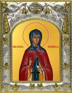 Икона святой Пелагеи в окладе