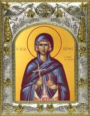 Икона святой Марфы Мироносицы в окладе