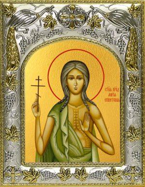Икона святой Марии Египетской в окладе