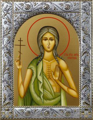 Мария Египетская преподобная икона в окладе
