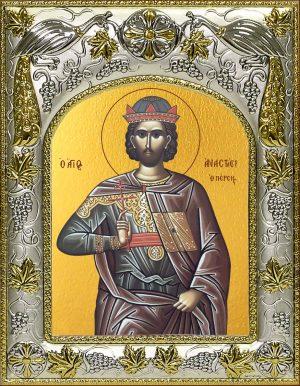 Икона святого Анастасия Персиянина в окладе