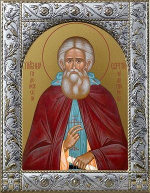 Сергий Радонежский преподобный икона в окладе