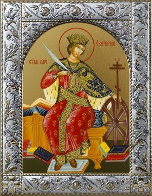 Екатерина великомученица икона в окладе
