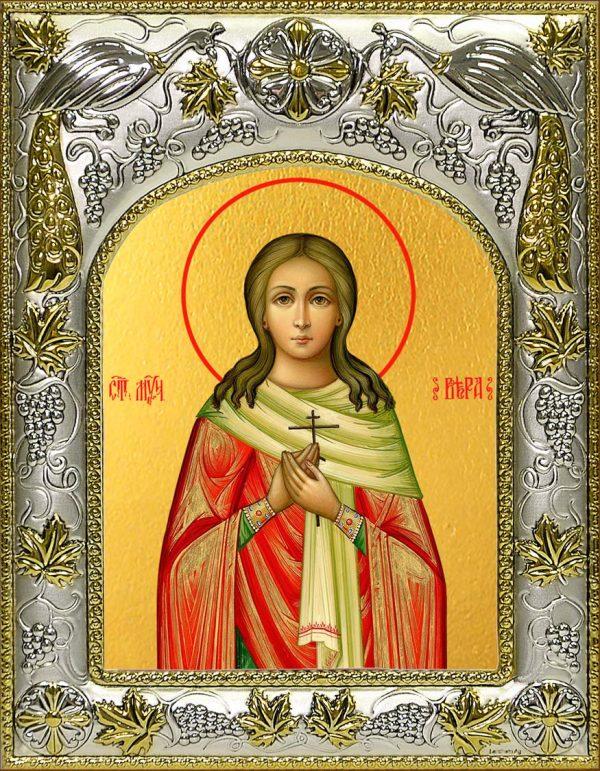 Икона святой Веры Римской мученицы в окладе