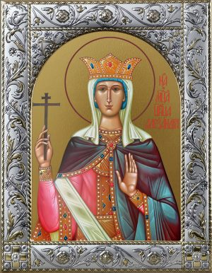 Александра Римская мученица, икона в окладе