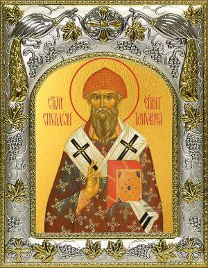 Икона святителя Спиридон Тримифунтского в окладе