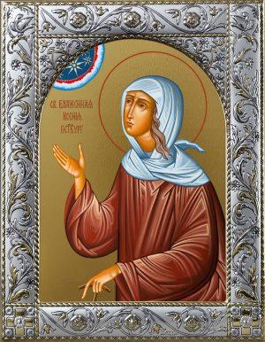 Икона Ксении Блаженной в окладе