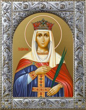 Икона Ирина великомученица в окладе