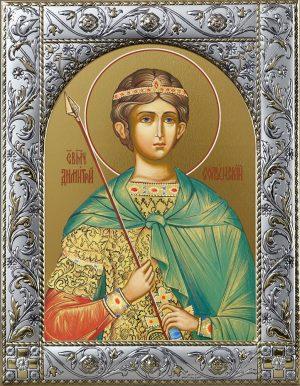 Димитрий Солунский великомученик икона в окладе