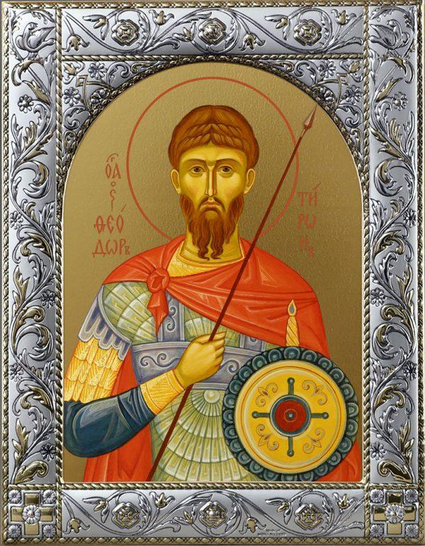 Феодор Тирон великомученик Икона в окладе