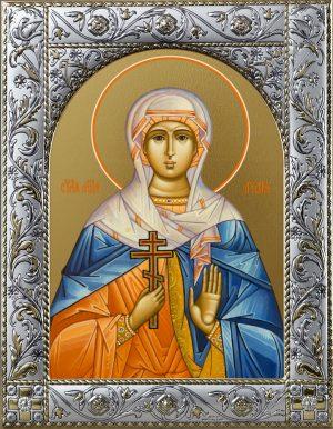 Лидия мученица икона в окладе
