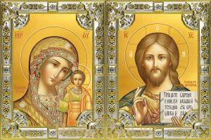 купить Венчальную пару икон Господь Вседержитель и Казанская Божья Матерь
