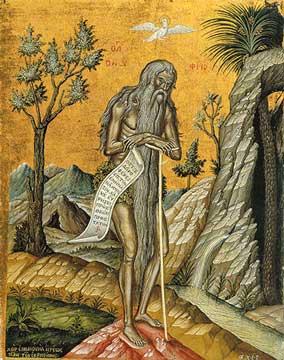 купить икону святого Онуфрия Великого