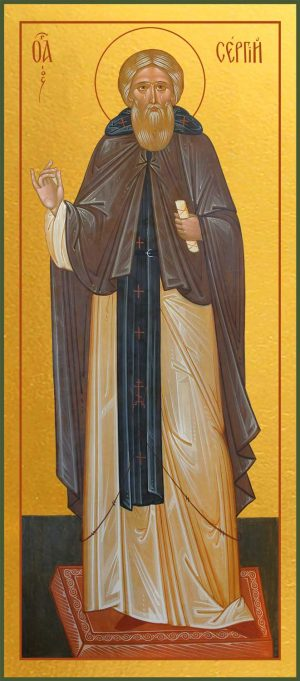 Купить икону Сергия Радонежского в православном интернет магазине