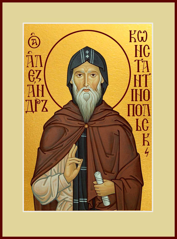 купить икону святого Александра Константинопольского в православном интернет магазине