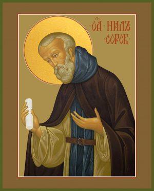 Купить икону святого Нила Сорского в православном интернет магазине