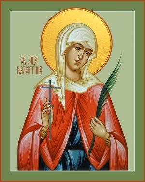 купить икону святой Валентины