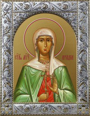 Купить икону святой Ариадны в окладе