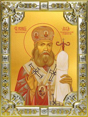 Купить икону Луки Крымского в окладе. Икона Лука Крымский