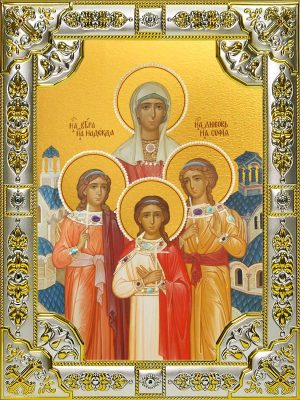 Купить икону Вера, Надежда, Любовь и их матерь София