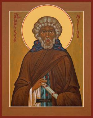 Моисей Мурин Преподобный, икона