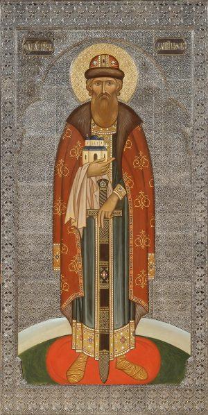 заказать мерную икону святого князя Даниила Московского