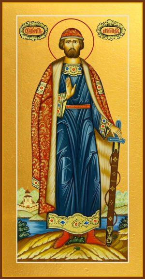 купить мерную икону святого князя Дмитрия Ростовского