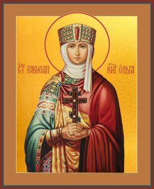 Купить икону святой Ольги в православном интернет магазине