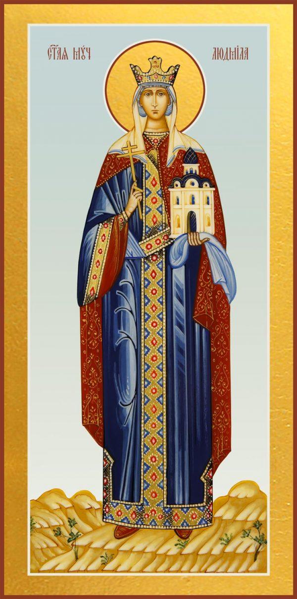 купить мерную икону святой Людмилы Чешской