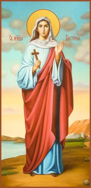 купить мерную икону святой Виктории Солунской
