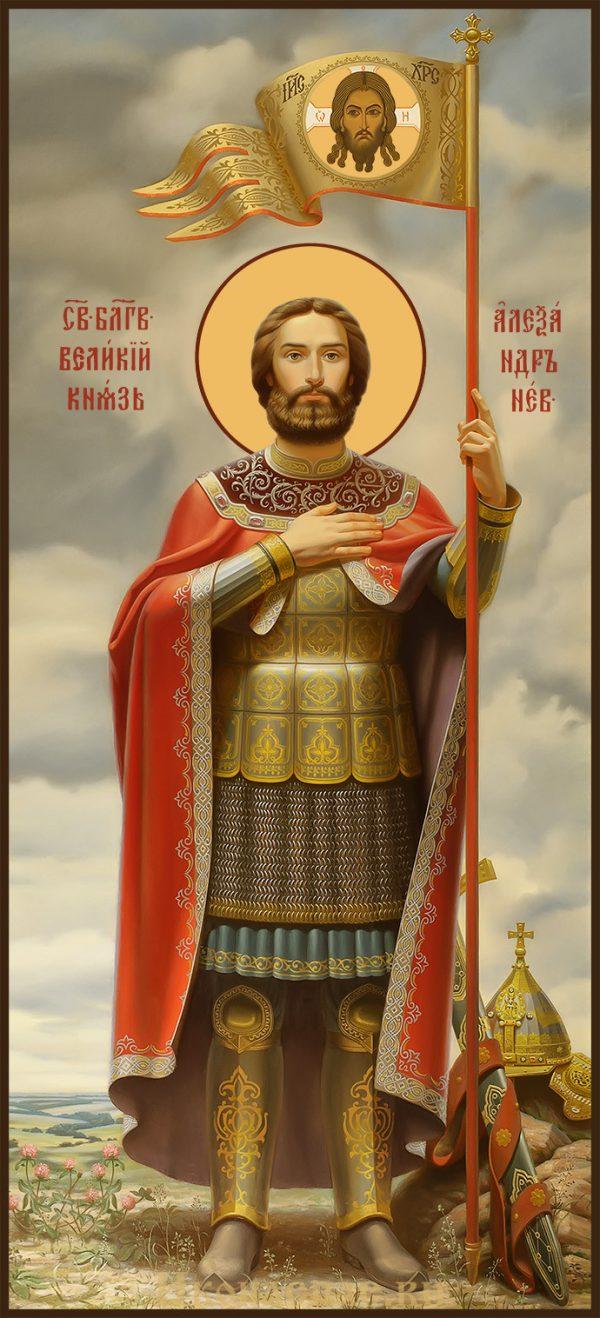 Купить мерную икону Александр Невский