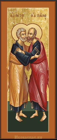 купить мерную икону Петр и Павел апостолы