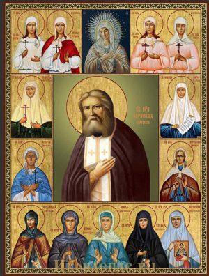 Икона Собор Пузовских и Дивеевских святых