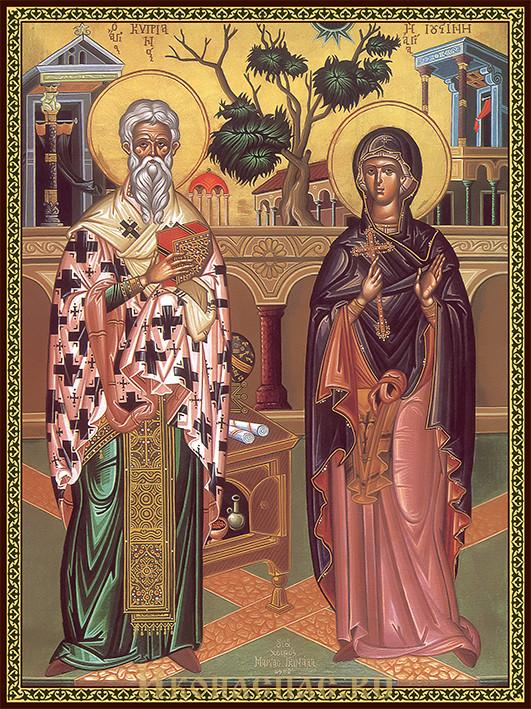 Икона Киприан и Иустиния