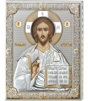 Икона Господь Вседержитель в окладе производство Италия