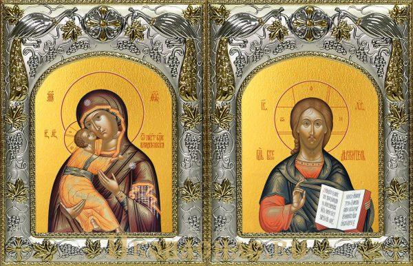 купить венчальную пару Господь Вседержитель и Владимирская икона Божьей Матери