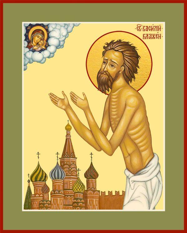 купить икону святого Василия Блаженного